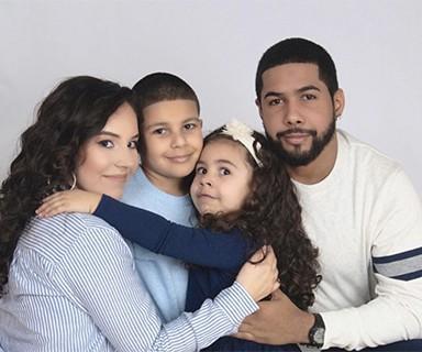 Esmeralda with her family