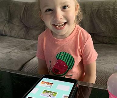 Briella using our app