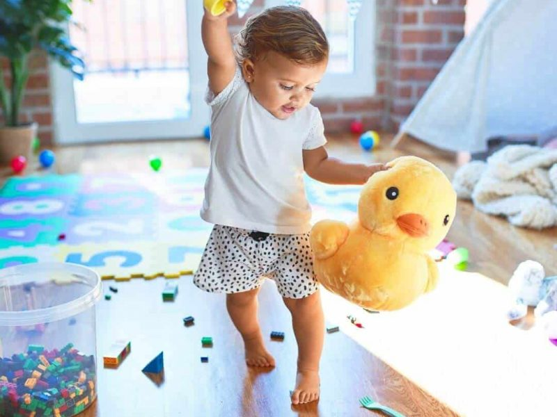Playtime is important for healthy development of a child.