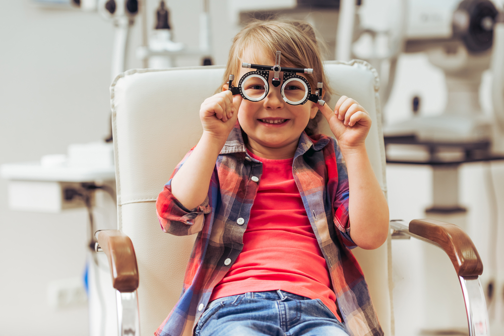 Eye doctor for kids will check your child's vision.