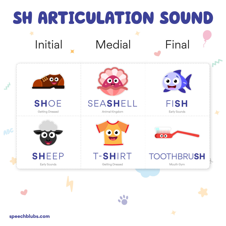 Articulation Bingo SH Sound