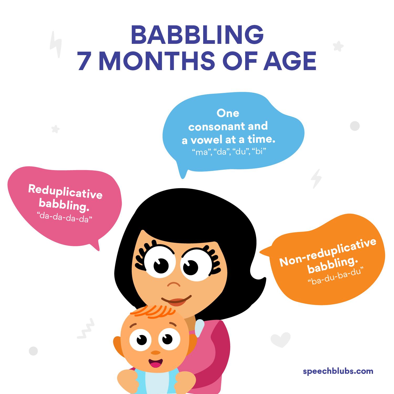 Babbling 7 month old baby - Language Development