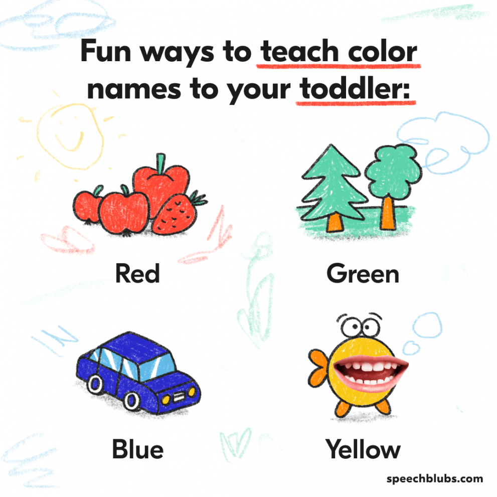 Teach your toddler colors