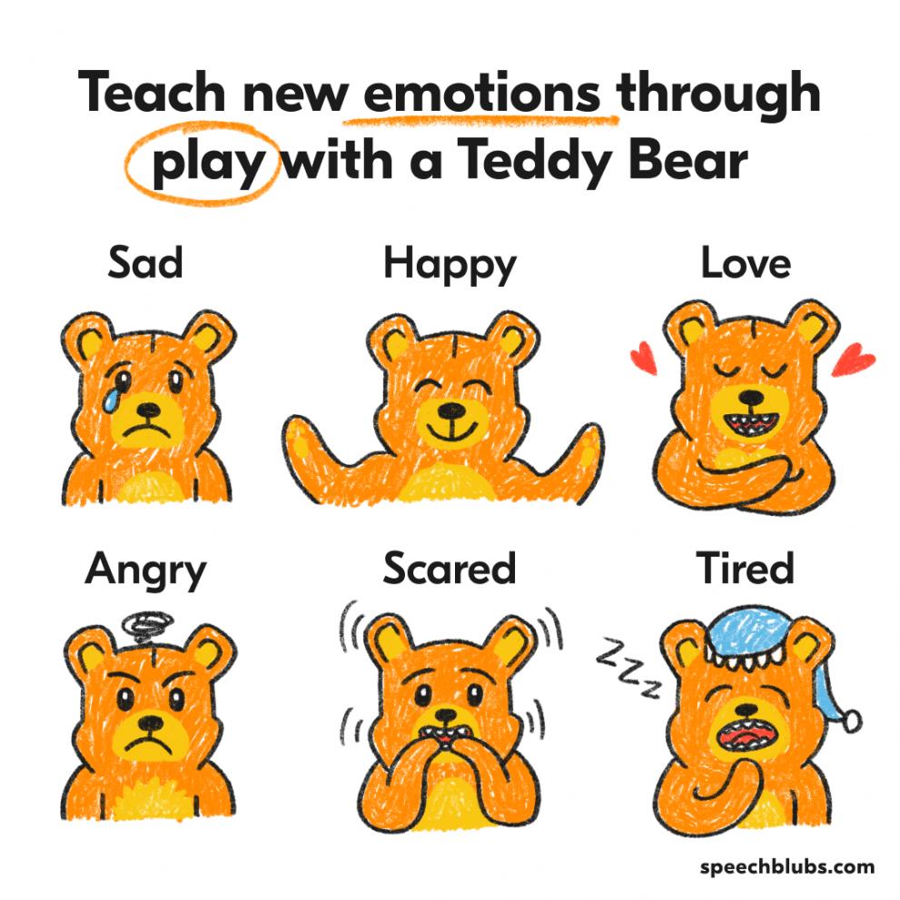 Teach emotions with Teddy Bear
