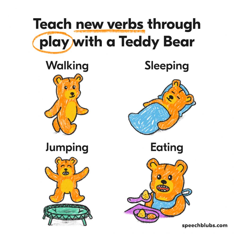 Imaginative play with Teddy Bear