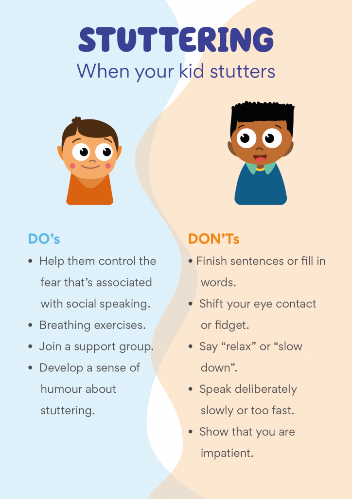Stutter or stammer can be normal for kids who learn language.