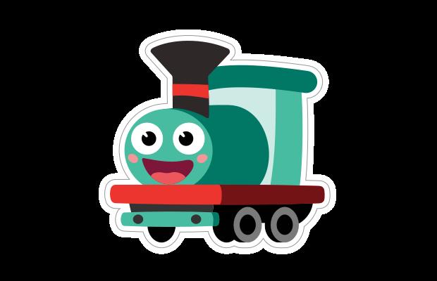 Toy Train Sticker from Speech Blubs App