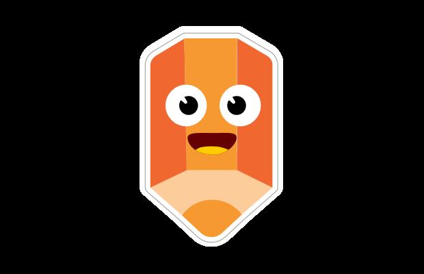 Orange pencil sticker Speech Blubs app