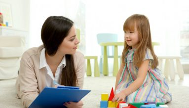 Speech Therapist With a Kid