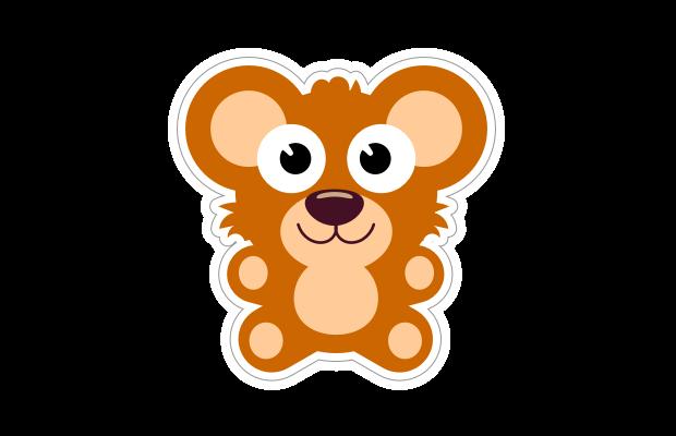 Teddy Bear Sticker Speech Blubs