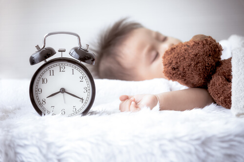 Morning routine of a child