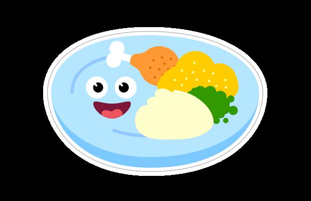 Speech Blubs Sticker Food Lunch