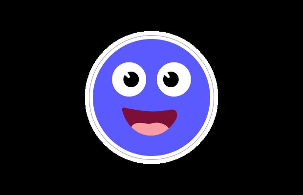 Circle sticker Speech Blubs