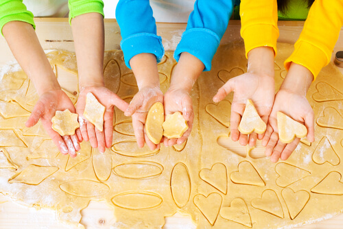 Cookie cutter shapes children