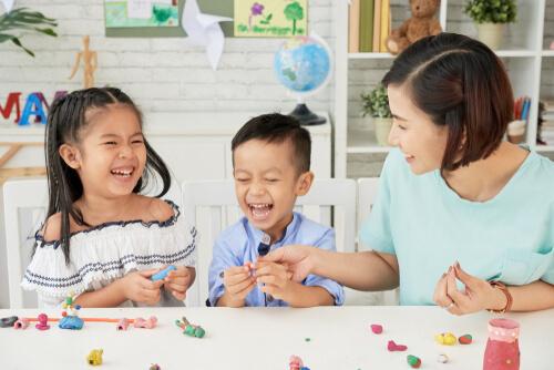 playdough mold shapes children