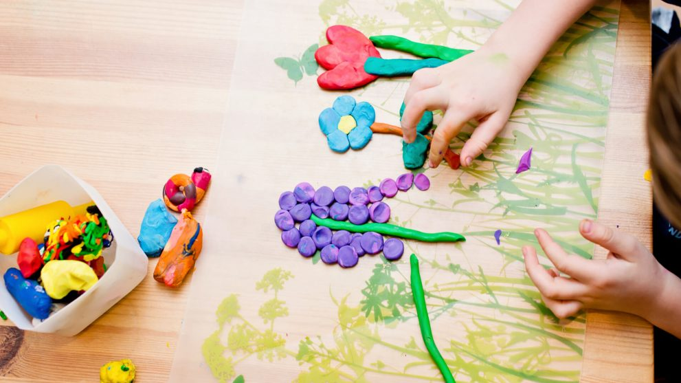 Playdough activities for toddlers