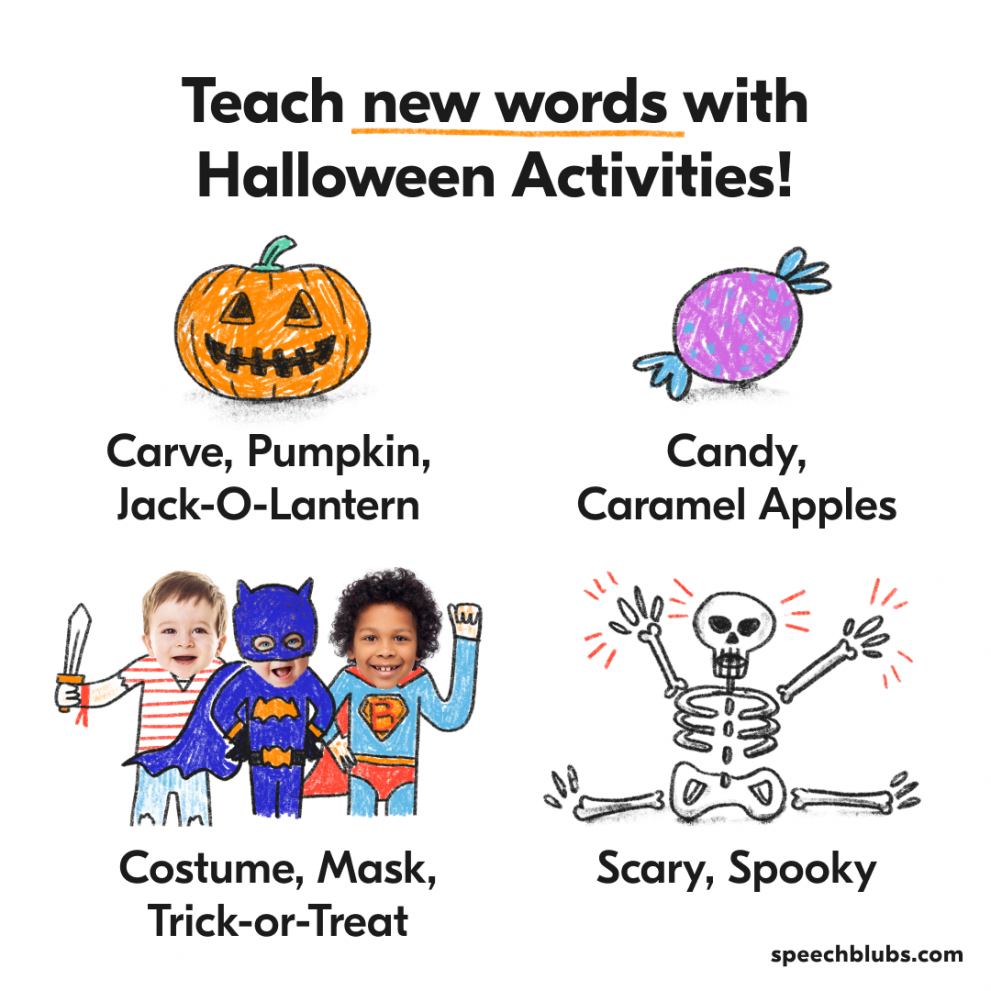 Halloween Words to Teach with Holiday Activities
